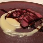 ミチノ・ル・トゥールビヨン - 和牛心臓とジャガイモのピュレ 紅茶とアニスの赤ワインソース