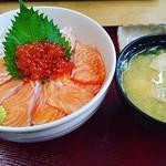 竹野鮮魚 - サーモンといくらの親子丼