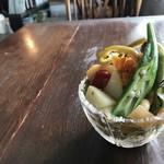 慈雨 - 料理写真:奥様が作られる、モーニングのサラダ(2018.8.23)