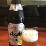 キのや - ドリンク写真:当然のビールです!(2018.8.23)