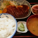 つるや - 味噌カツ定食(税込750円)