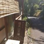 信夫山文庫 - 坂道にあります。