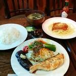 珈琲サバンナ - 料理写真:タラのムニエル・木曜日のランチ(700円)