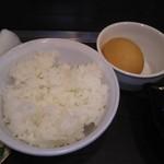 釜谷製麺 - ご飯、卵
