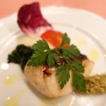 ピッツェリア・サバティーニ - 長崎産鮮魚のグリルグリーンオリーブと長ネギのタプナードソース