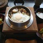 釜蔵 - 鶏きのこ釜飯1480円