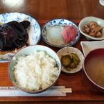 91403684 - 銀鱈煮付定食お刺身つけて。1450円