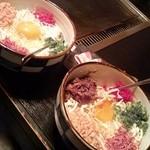 縁家 - 牛すじ玉天&豚玉天(お好み焼き)
