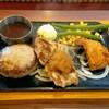 Bigguboi - 料理写真:チーズinハンバーグ&おろしチキンとトンカラ