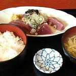 味どころ 遊 - かつおのさしみ定食900円