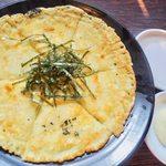 炭火焼肉 ホルモン酒場 金子増太郎 - 女性に大人気!! チーズと海苔のコクがベストマッチ!チヂミ一番人気!