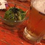 六文船 - 料理写真:アボガドの味噌漬け。ビールが進みます