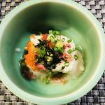 春山 - お通し(豆腐の山芋かけ)