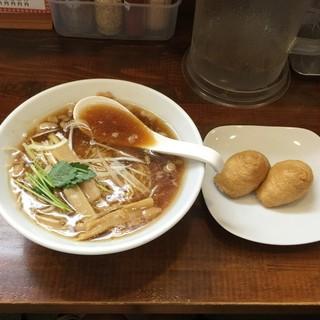 自家製麺中華そば 今里 - 料理写真:中華そば・元祖(600円)といなり(100円/2個)