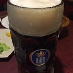 バーデンバーデン - これが3杯目 黒ビールです これだけは全く変わらない美味しさです