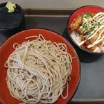 富士そば - ミニ鶏マヨから揚げ丼セット