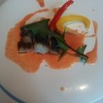 91424578 - 本日の鮮魚のポワレ 野菜を使ったヴァン・ブランソース