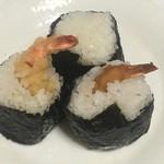 蒲田屋 - エビ天(塩味・醤油)、たらこ