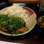 花ごろも - ねぎ味噌ロースかつ定食(ランチ)