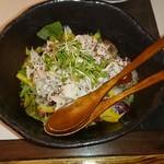 91430186 - 蔵王豚ロースしゃぶしゃぶと水菜のサラダ 680円