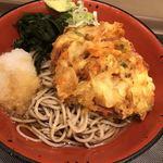 富士そば - 冷やしかき揚げ蕎麦