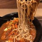 富士そば - カレー蕎麦麺リフト