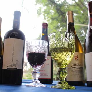 ワインも充実!ワイン×料理があなたの味覚を満足させます!