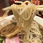 肉そば麺達 - 麺は細ストレート(2018.8.24)