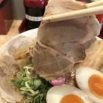 肉そば麺達 - 通常の豚ロースチャーシュー(2018.8.24)