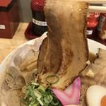 肉そば麺達 - トッピングにもある、豚バラチャーシュー(2018.8.24)