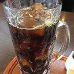 迎賓館 - アイスコーヒーはたっぷりジョッキ(^_^)