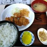 食堂 伊賀 - チキンカツ定食