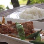 レストラン ル・プラトー - 信州ハーブ鳥のソテーのランチセット・香ばしくて美味