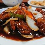91440709 - 鶏肉の黒酢風味アップ 201808