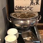 煮干しらーめん青樹 - 【再訪】自由にとれる高菜
