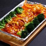 蓬渓閣 - イカまるごとの鉄板焼き