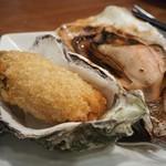 91454028 - 「牡蠣のバター醤油焼き」「かきフライ」