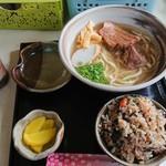 花村そば - ダイバー定食・半そば550円✨