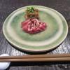 蕎麦 茶のみ処 カワイ - 料理写真:「炙り鴨の生ハム 焼き葱のマリネ添え」