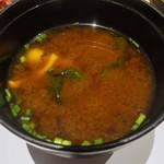 天ぷら新宿つな八 - 味噌汁