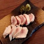 やっこ - 山水地鶏の刺身(ムネ)