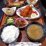 釜めし魚政 - 料理写真:串カツ定食ランチ(ご飯大盛り)