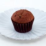 プティビズ - 【ココアとチョコチップ】ココア生地にチョコチップが入ったカップケーキ。