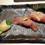 福三三 - 肉寿司。