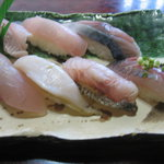 松鮨 - 地魚鮨(二日目)・・炙り鮨黒むつ