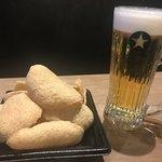サッポロ生ビール黒ラベル THE PERFECT BEER GARDEN 2018 TOKYO - 2018/08 パーフェクト黒ラベル 600円と大人のえびせん 400円