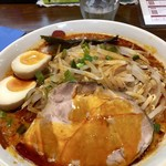 正月屋 - コク辛そば850円+煮卵100円