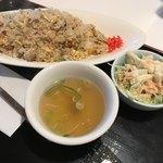 太陽の恵み - 焼豚チャーハン 中華スープ付