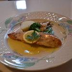 プティプランス - 鱸のバター風味香草焼き