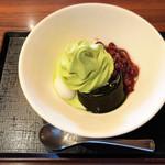 京甘味 文の助茶屋   - 抹茶ソフトのいろどり